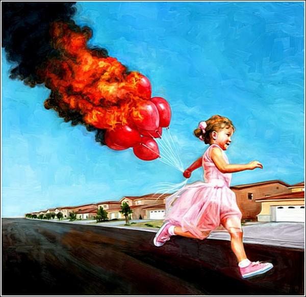 А шарик горит: яркие рисунки Роберта Картера