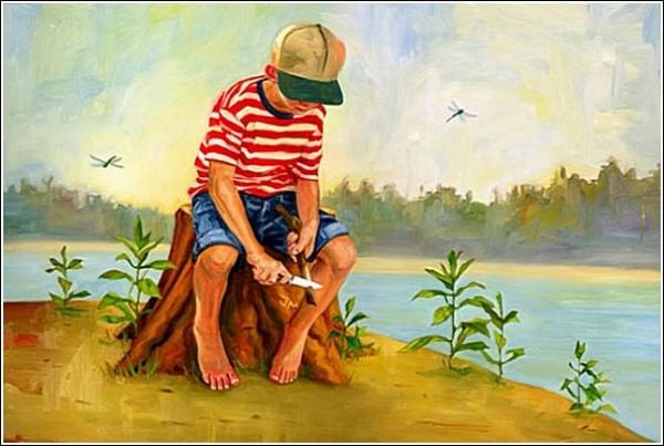 Детство: яркие рисунки Роберта Картера