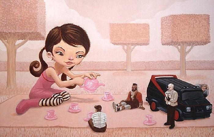 Разборки в розовом цвете: добрые рисунки Руэля Паскуаля