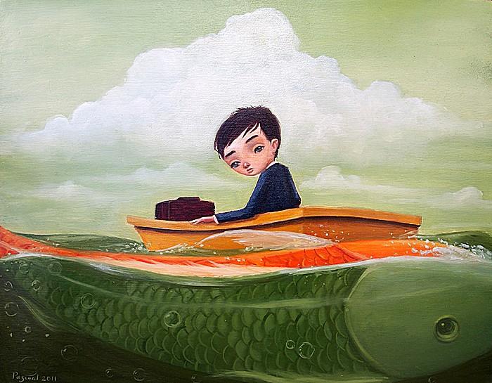 Золотая рыбка: добрые рисунки Руэля Паскуаля
