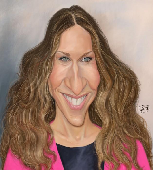 Смешные портреты знаменитостей: Сара Джессика Паркер