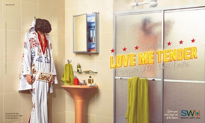 Минус один «Love Me Tender» экономит 26 литров воды