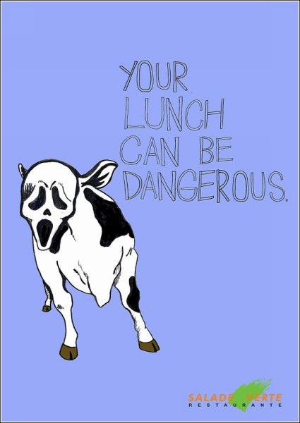 «Страшная» реклама ресторана: коровий *Крик*