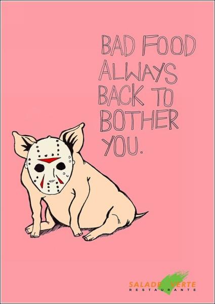 «Страшная» реклама ресторана: свинья в маске