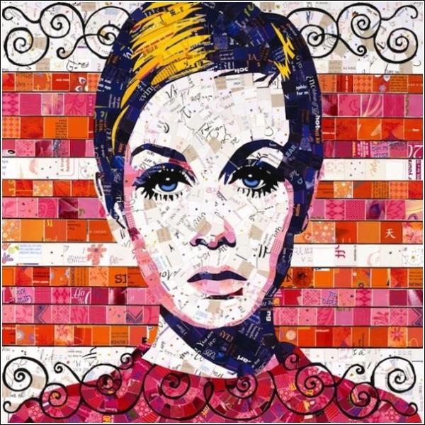 Портреты из буклетов: мозаичные картины Сэнди Шиммель Голд