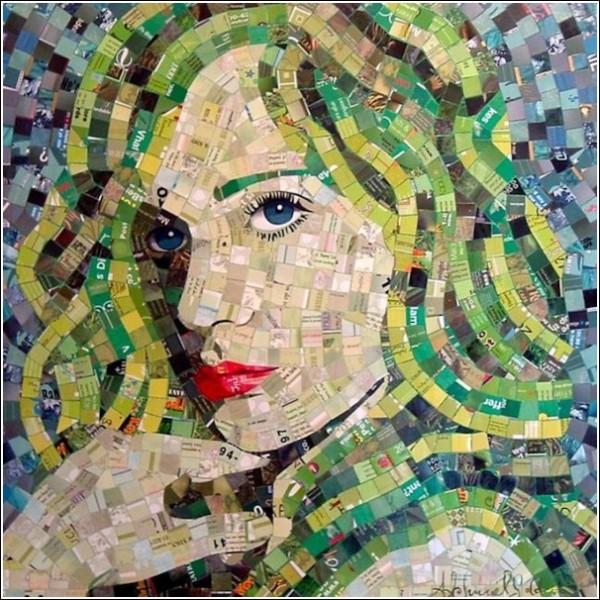 Красочные мозаичные картины синестетика