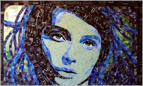 Портреты из буклетов: яркой макулатуры для мозаичных картин всегда хватает