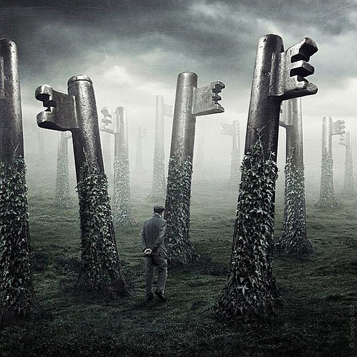 Лес ключей: креативные фотографии и коллажи Саролты Бан