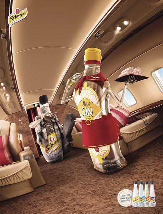 Встреча в самолете: креативная реклама о частной жизни напитков