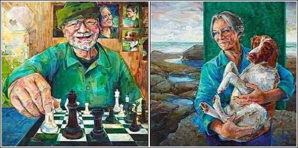 Яркие картины Гвенн Симел: потреты родителей художницы