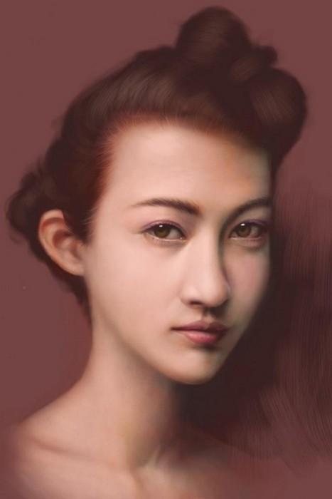 Портреты нового поколения: цифровая живопись Сейку Ямаоки
