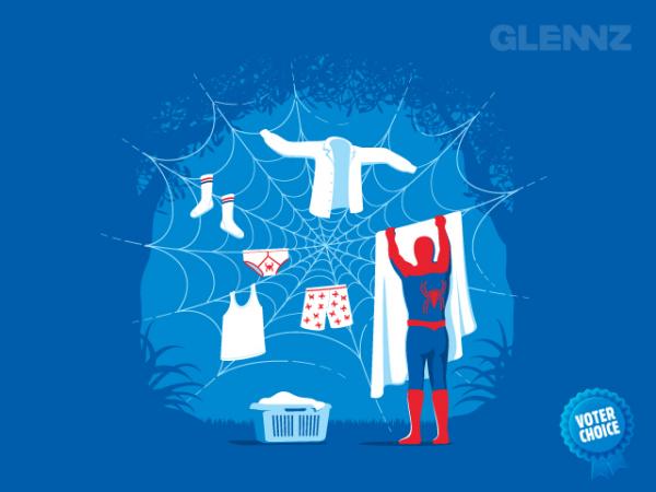 Веселые рисунки Гленна Джонса: бельевая паутина