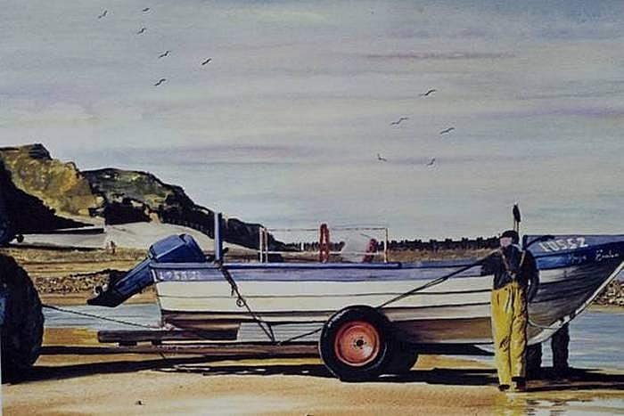 Акварельные рисунки Стива Чемберса: лодка