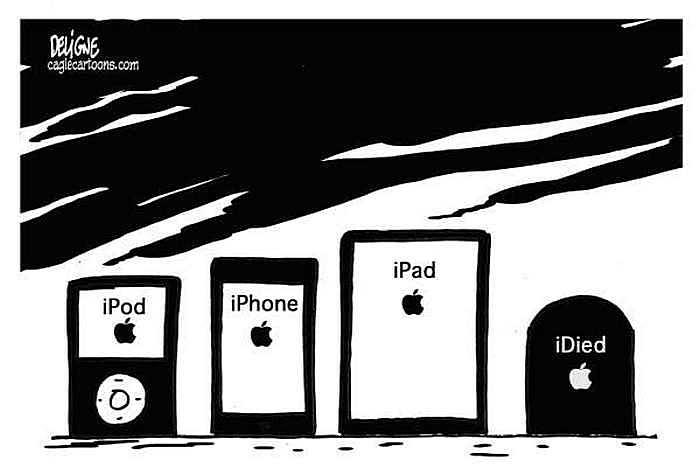 «iDied». Рисунки художников-карикатуристов в память об экс-главе «Эпл»