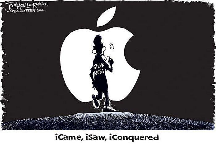 Пришел, увидел, победил. Рисунки художников-карикатуристов в память об экс-главе «Эпл»