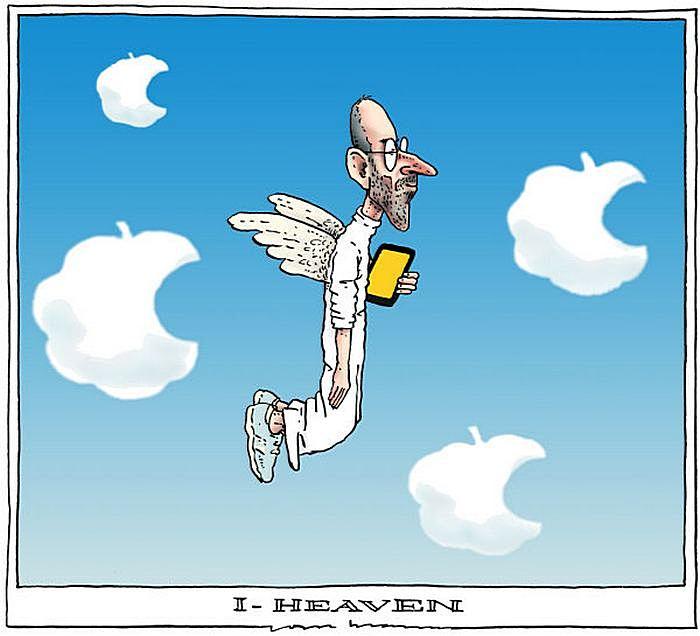 «iHeaven». Рисунки художников-карикатуристов в память об экс-главе «Эпл»
