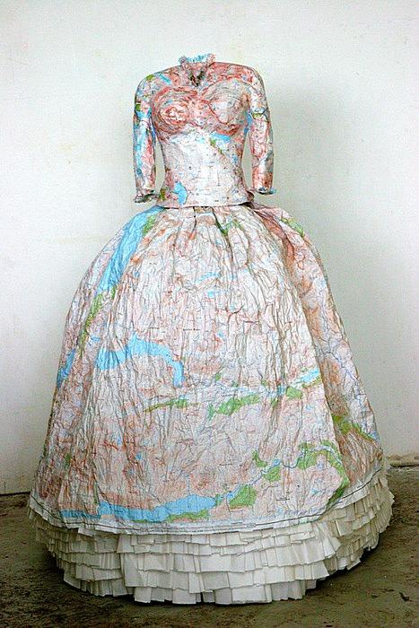 Викторианская колонизаторская мода: картографический арт
