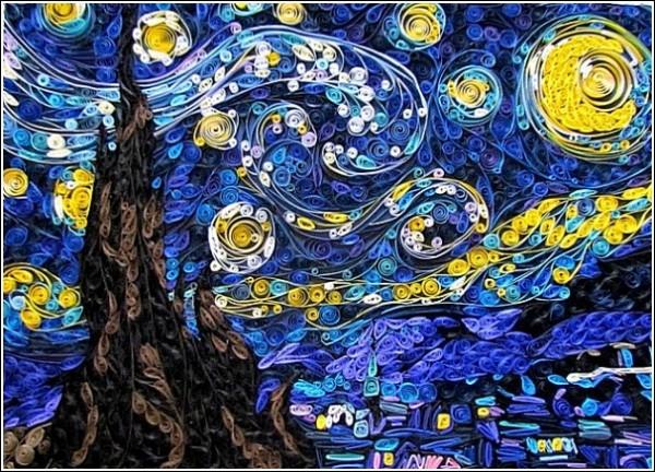 Ван Гог в технике квиллинга: арт-решение Сьюзи Майерс