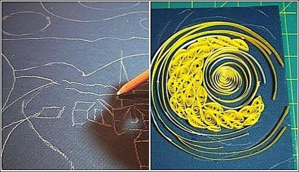 Ван Гог в технике квиллинга: наброски и первые шаги