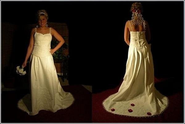 Туалеты из туалетной бумаги: конкурс оригинальных свадебных платьев