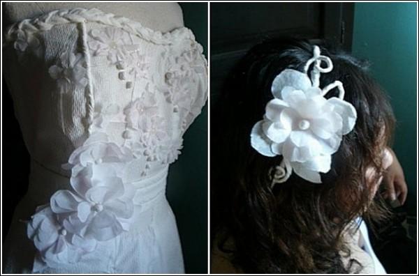 Туалеты из туалетной бумаги: конкурс бюджетных свадебных платьев