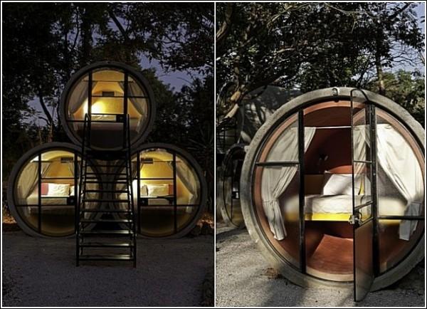 Дело труба: необычный отель из бетонных труб