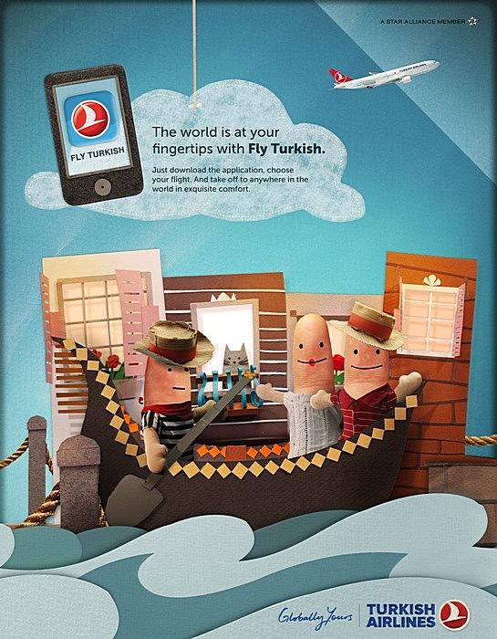 Пальцы в гондоле: оригинальная реклама авиакомпании