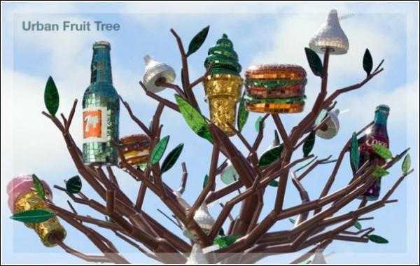 «Городское плодовое дерево»: скульптура Джин Уэллс