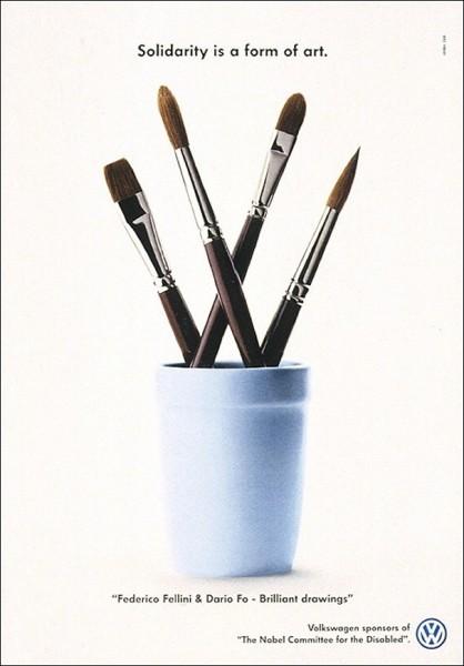 Креативная реклама «Фольксвагена»: «Солидарность - это искусство»