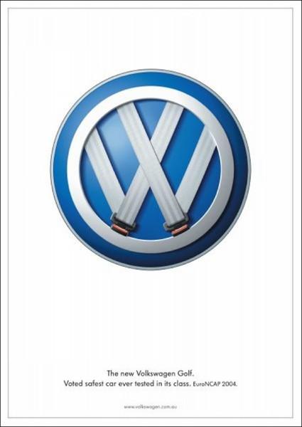 Креативная реклама «Фольксвагена»: главное - ремни безопасности