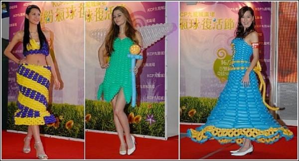 Нарядные платья из воздушных шариков