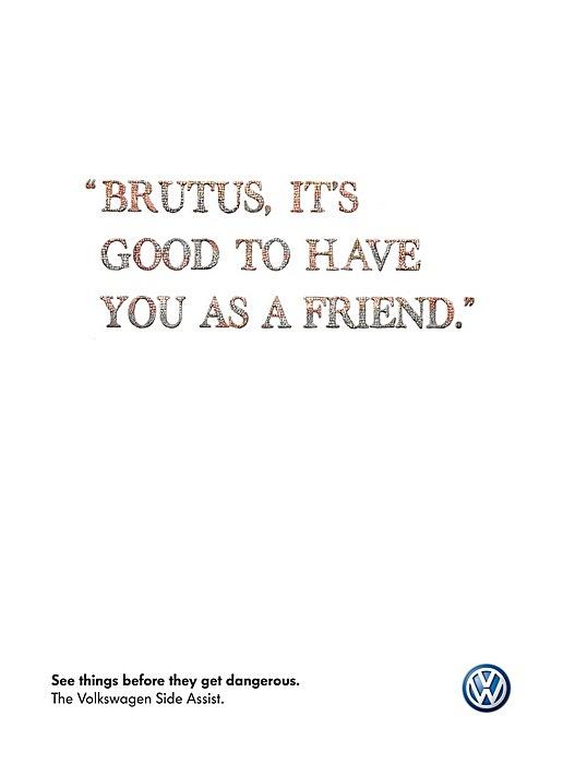 «Брут, как хорошо, что ты мой друг»: реклама «Фольксвагена» и его системы безопасности