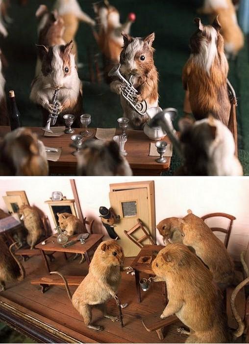 *Свинский* ансамбль и крысиный притон: таксидермический музей Уолтера Поттера