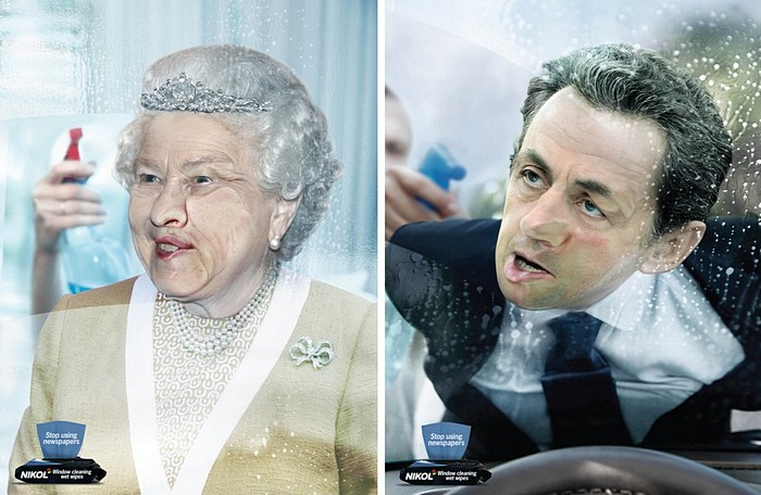 Оставьте випов в покое: креативная реклама салфеток для мытья окон