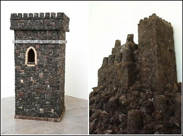 Замки для принцессы: скульптуры Агустины Вудгейт из человеческих волос