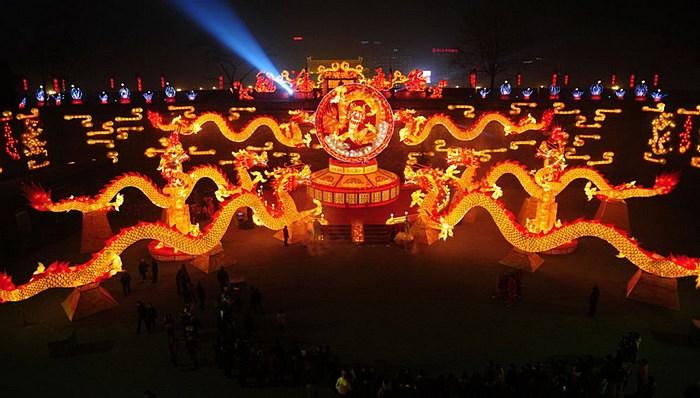 Сиань: празднование китайского нового года