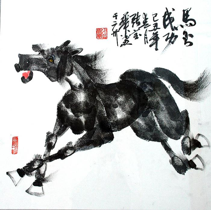 Конь вороной: непростое рисование руками