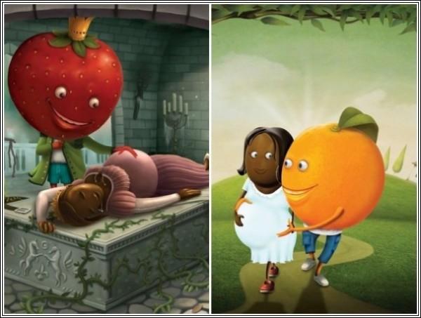 Карамель, беременная фруктами: недетская реклама конфет
