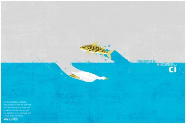 Ироничная зарубежная реклама: круговорот птиц и рыб