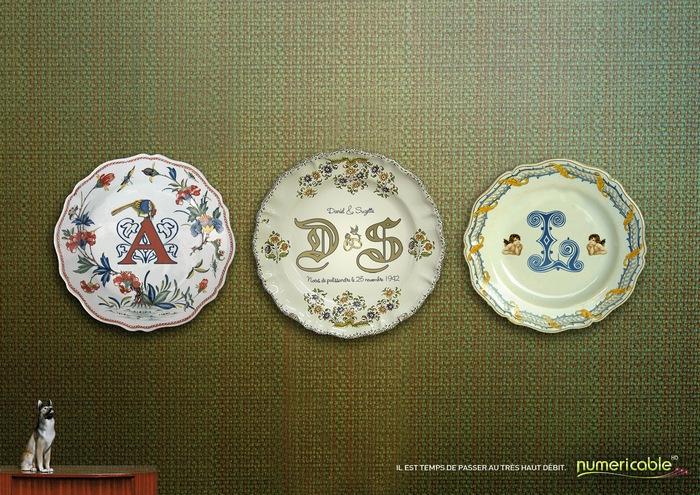 Прощай, АДСЛ-модем! Оригинальная реклама на расписных тарелочках