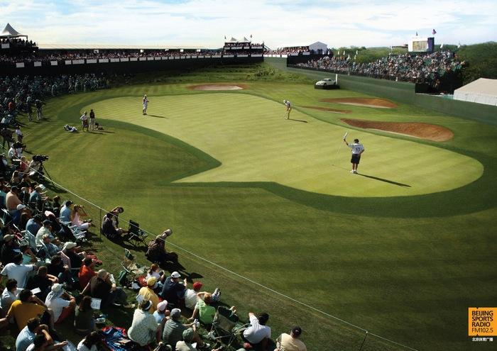 Поле для гольфа: креативная реклама спортивного радио