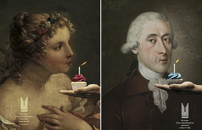 День рождения - пора отдуваться: забавная реклама музея искусств