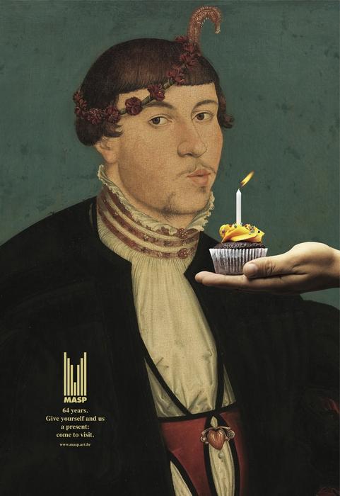 Тушите свечи: забавная реклама музея искусств