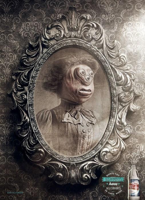 Портрет дамы: креативная реклама дезраствора