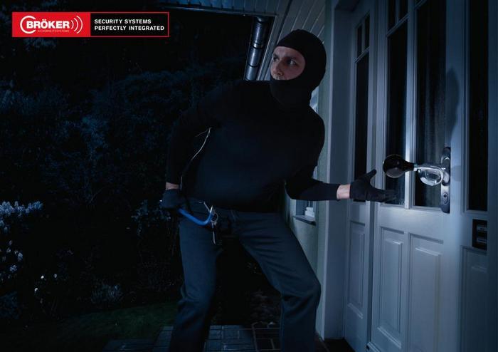 Ручка-клаксон: реклама сигнализации для дома