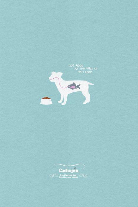 Чтобы пес молчал как рыбка: реклама собачьего корма