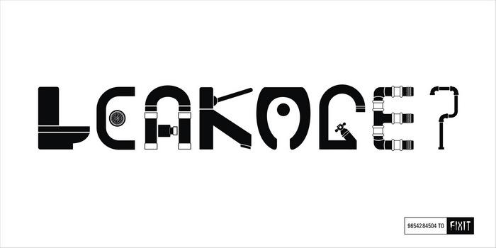 «Leakage?» («Протечка?») Оригинальная реклама ремонтной мастерской