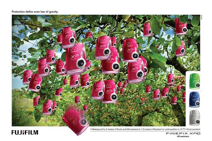 Глазастые яблочки: креативная реклама фотоаппарата