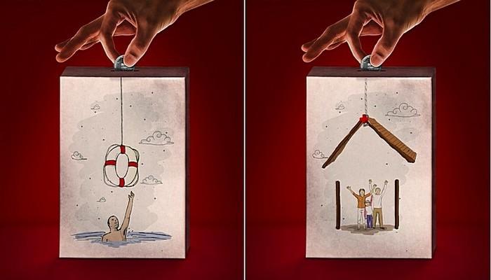 Спасательный круг: креативные плакаты для общества Красного Креста