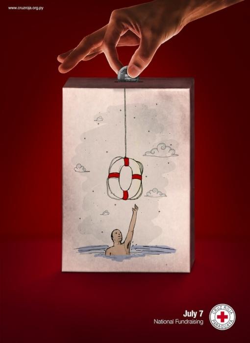 Рука бога: креативные плакаты для общества Красного Креста